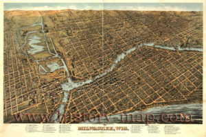 old mke river map